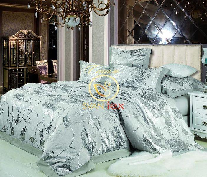 Жаккардовое постельное белье из сатина