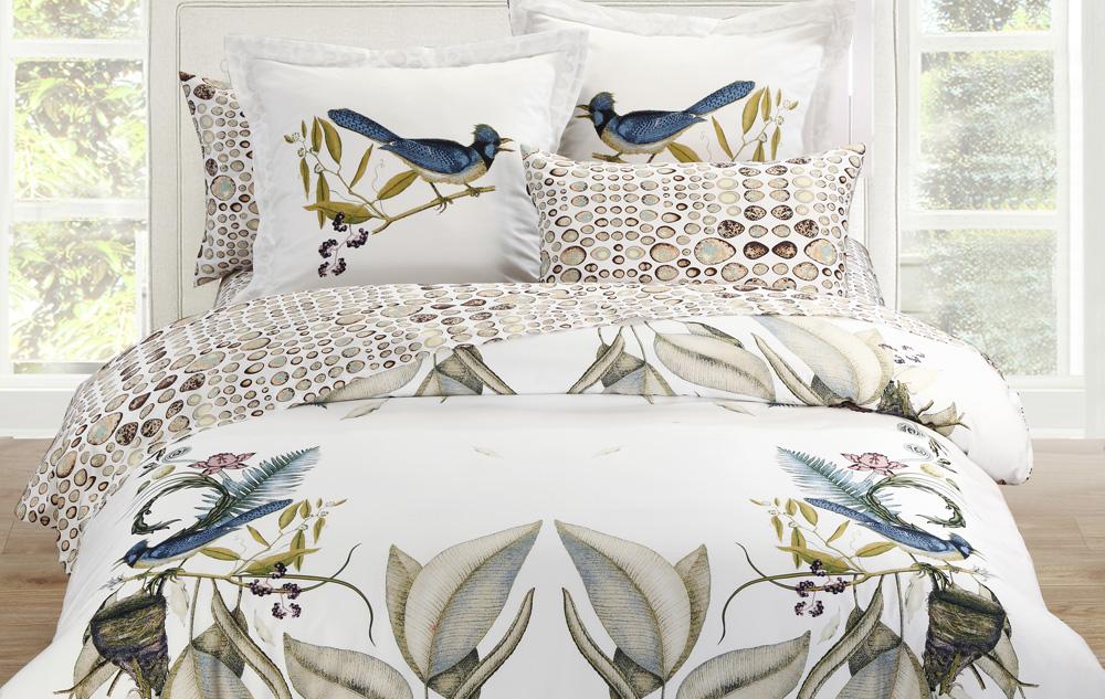 Постельное белье из сатина с птицами