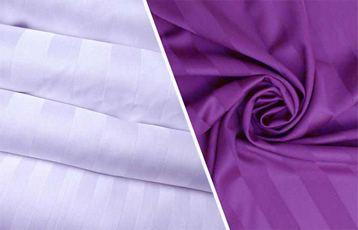 Скрученная ткань из сатина с полосками